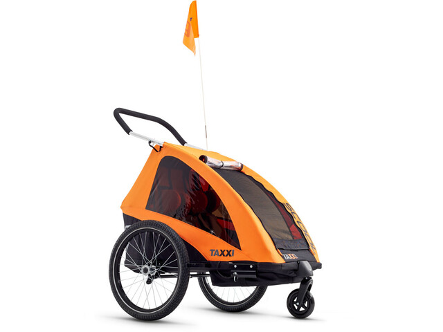 s'cool taXXi Pro Cykelanhænger for Two orange (2019) | bike_trailers_component